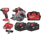 Milwaukee 2-Tool M18 FUEL Lithium-Ion Brushless Circular Saw & Impact Driver Cordless Tool Combo Kit Image 1